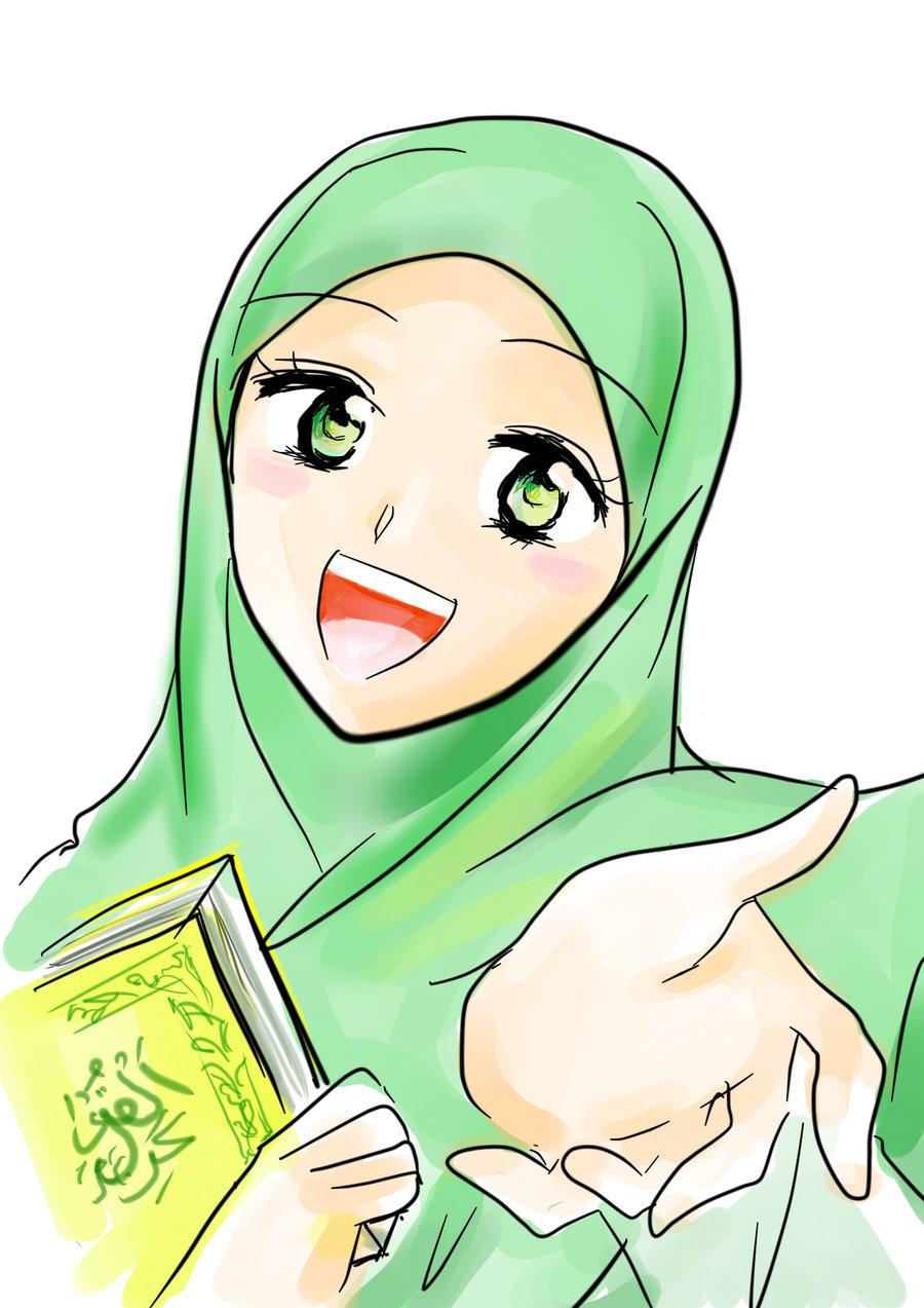 Muslim Women Cartoon
