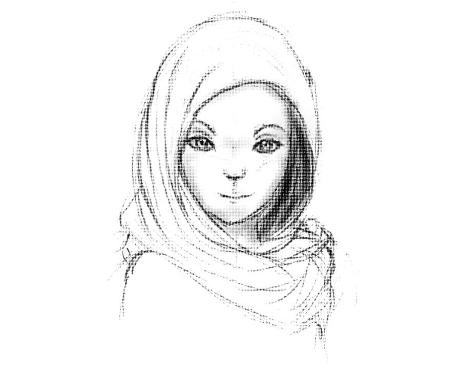 Girl Drawings Muslim Girl Drawing Drawings