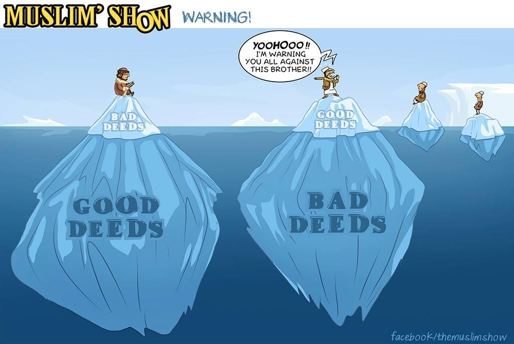 Muslim Show: Good Deed and Bad Deed Icebergs - Islamic Comics and ...