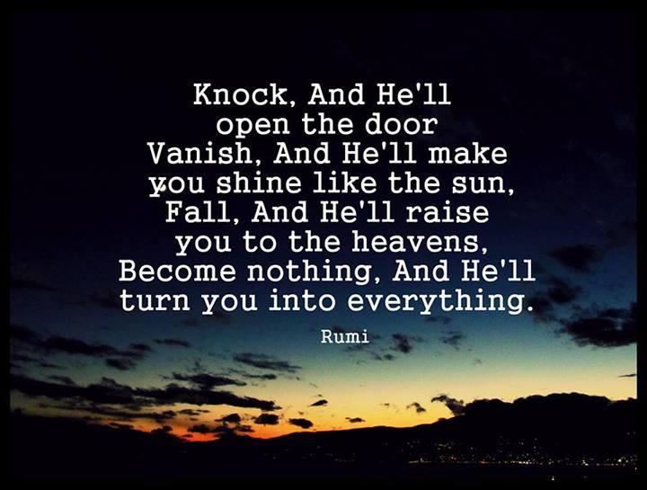 Rumi quotes on faith quotesgram for Door quotes rumi