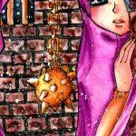 Sad Muslim Girl in & Hijab and Crown