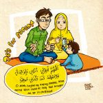 A Prayer for Our Parents (With Muslim Family Drawing)