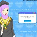 Hijabi Student on Graduation Day