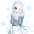 Winking Anime Girl in Hijab, Blouse and Skirt