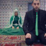 Muslim Bride and Groom Praying at Mosque