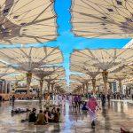 Umbrellas at al-Masjid an-Nabawi in Madinah, Saudi Arabia