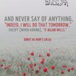 If Allah Wills (Quran 18:23-24)