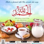 Saying Alhamdulillah after eating and drinking