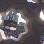Kaaba and sun rays